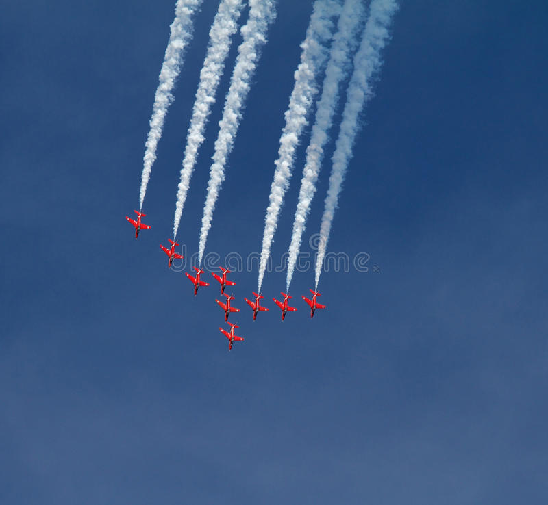 RAF Red Arrows Display Team Stock Photo