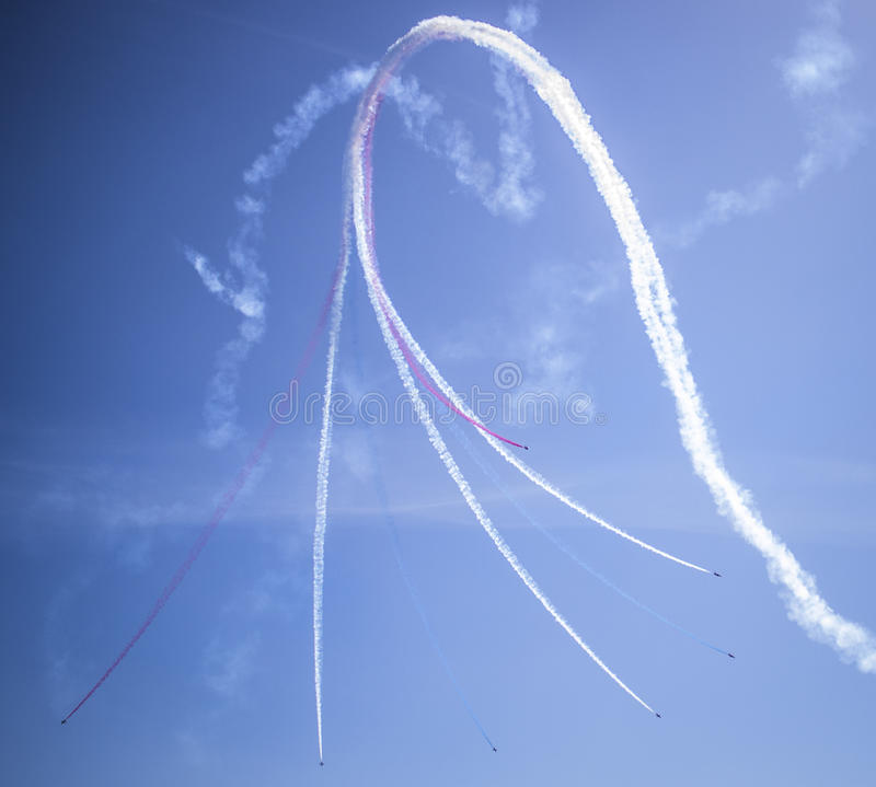 RAF Red Arrows, Portsmouth immagine stock libera da diritti