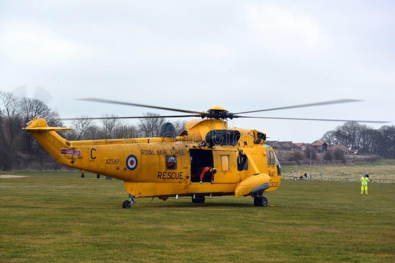 RAF Sea-König Helicopter stockfotos