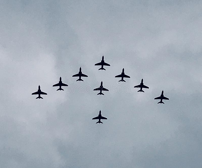 RAF 100 flypast stock images