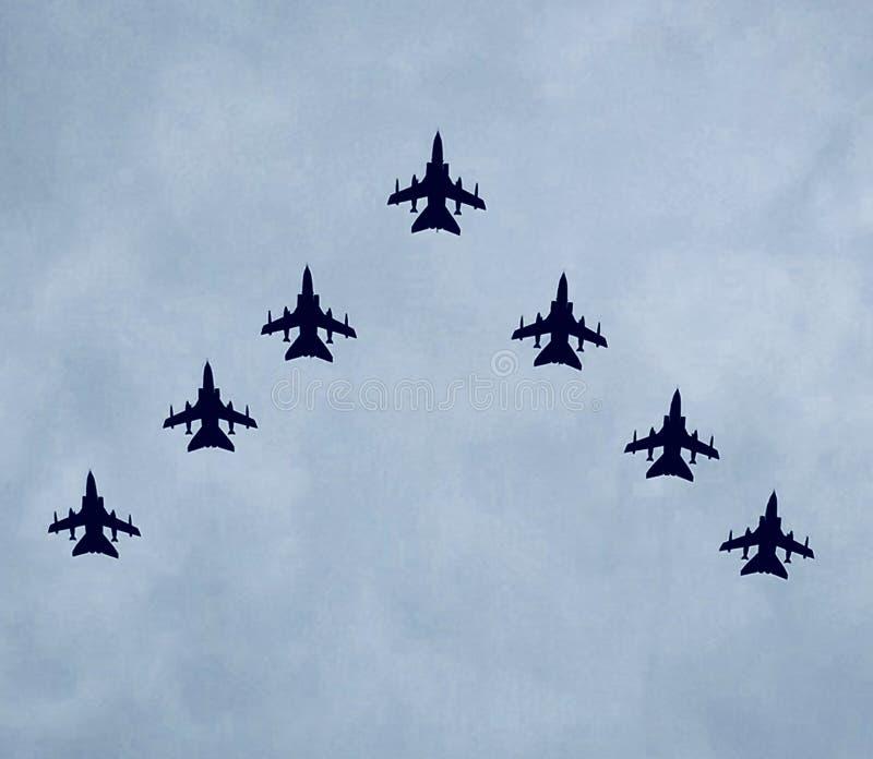 RAF 100 flypast royalty free stock image