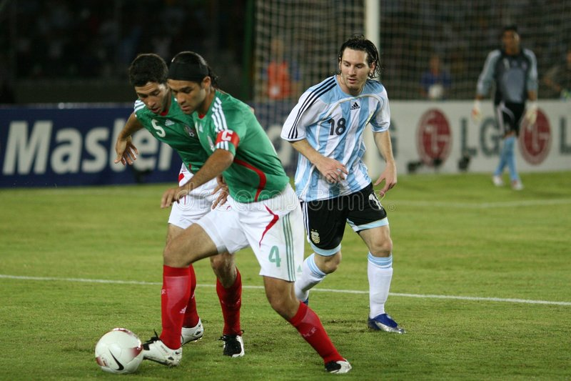 Rafa en Messi stock afbeelding