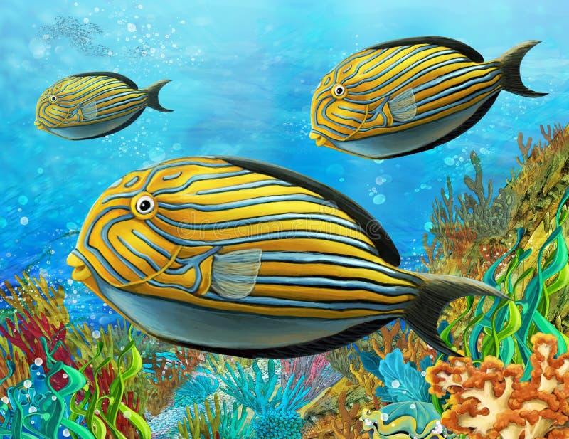 Rafa koralowa - ilustracja dla dzieci ilustracja wektor