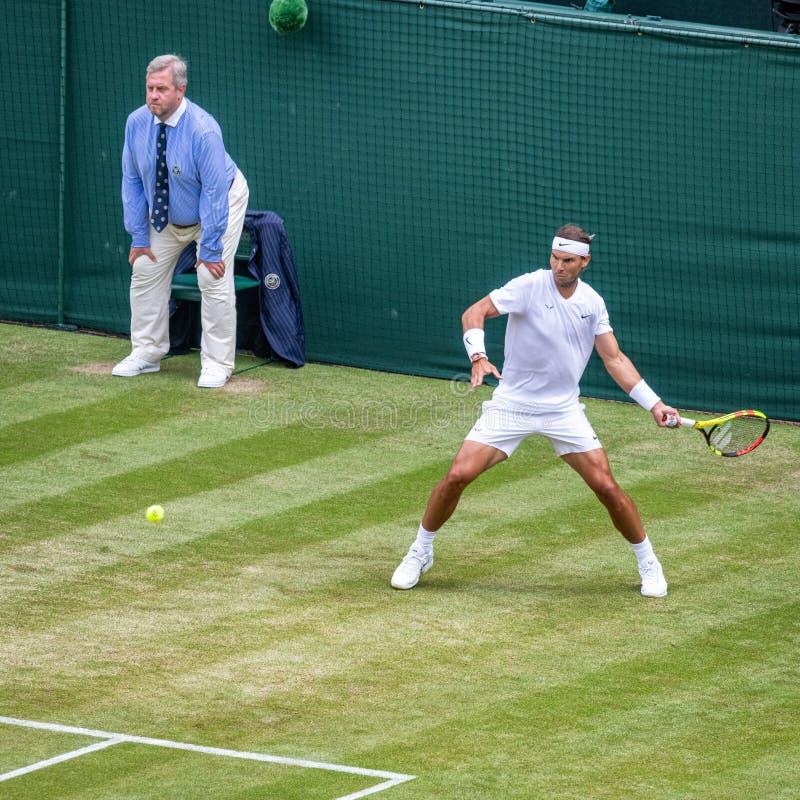 Rafa Nadal på Wimbledon fotografering för bildbyråer