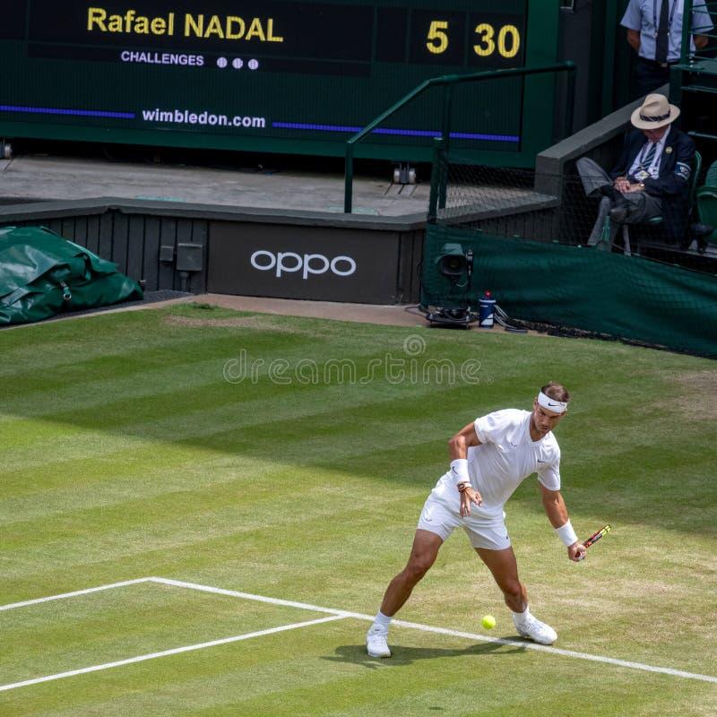 Rafa Nadal przy Wimbledon obraz royalty free