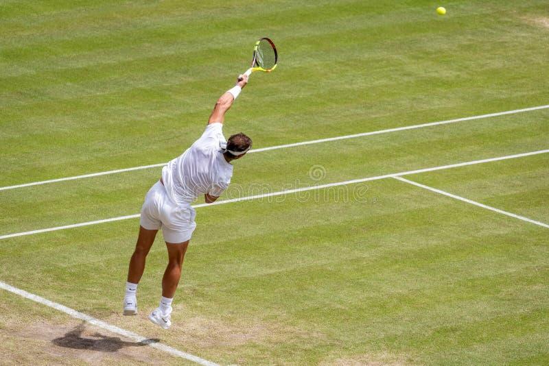 Rafa Nadal przy Wimbledon zdjęcia royalty free