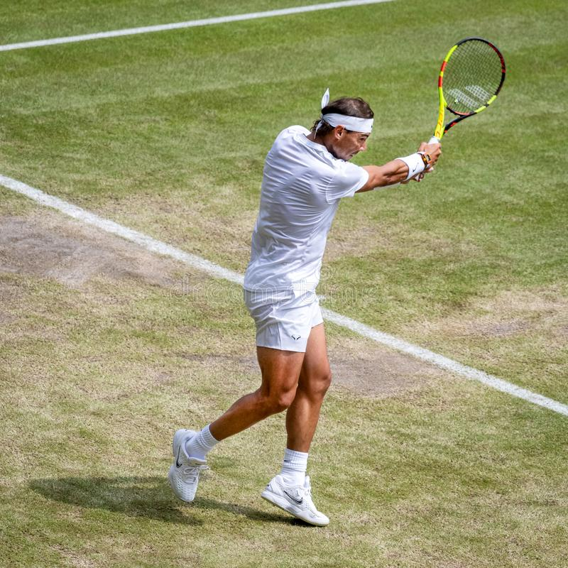 Rafa Nadal przy Wimbledon obrazy royalty free