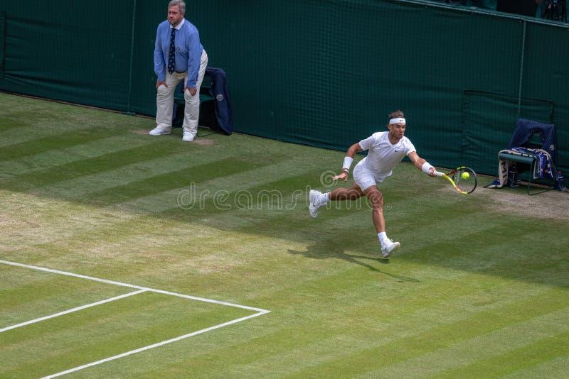 Rafa Nadal at Wimbledon stock images