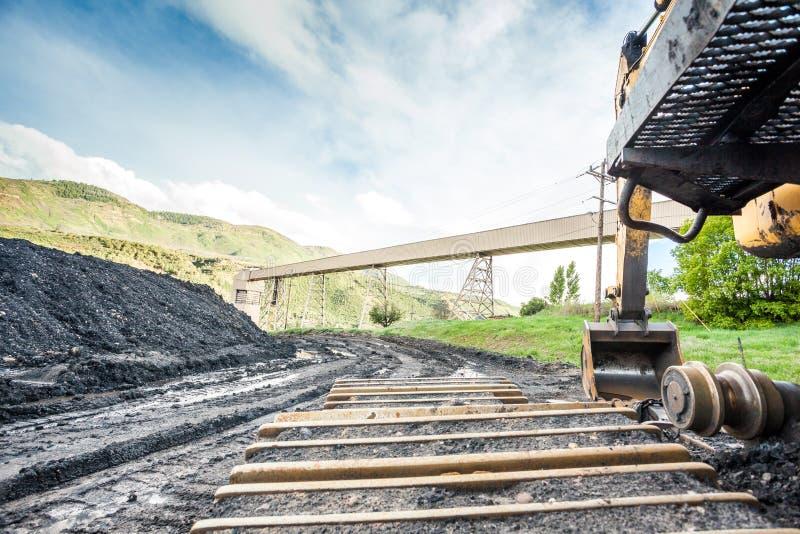Rafadoras, carbón e infraestructura fotografía de archivo libre de regalías