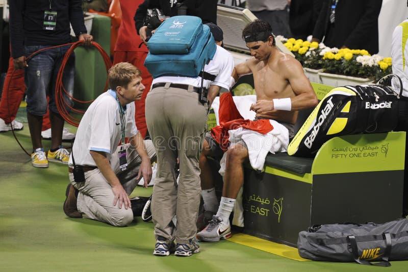 Rafael Nadal au tennis de triphosphate d'adénosine photographie stock