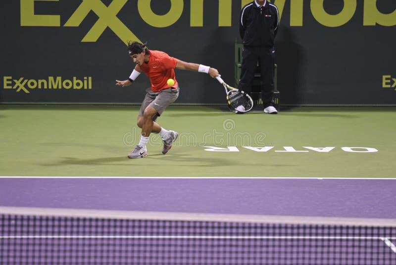 Rafael Nadal au tennis de triphosphate d'adénosine photo libre de droits