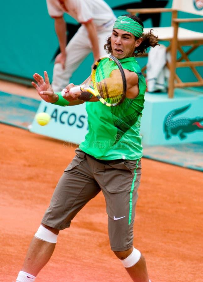 Rafael Nadal de l'Espagne chez Roland Garros image stock