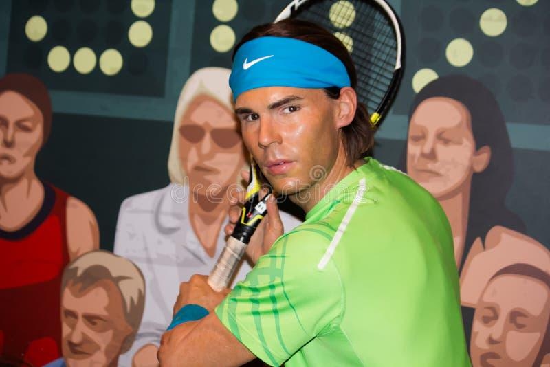 Rafael Nadal disposant à jouer photos libres de droits