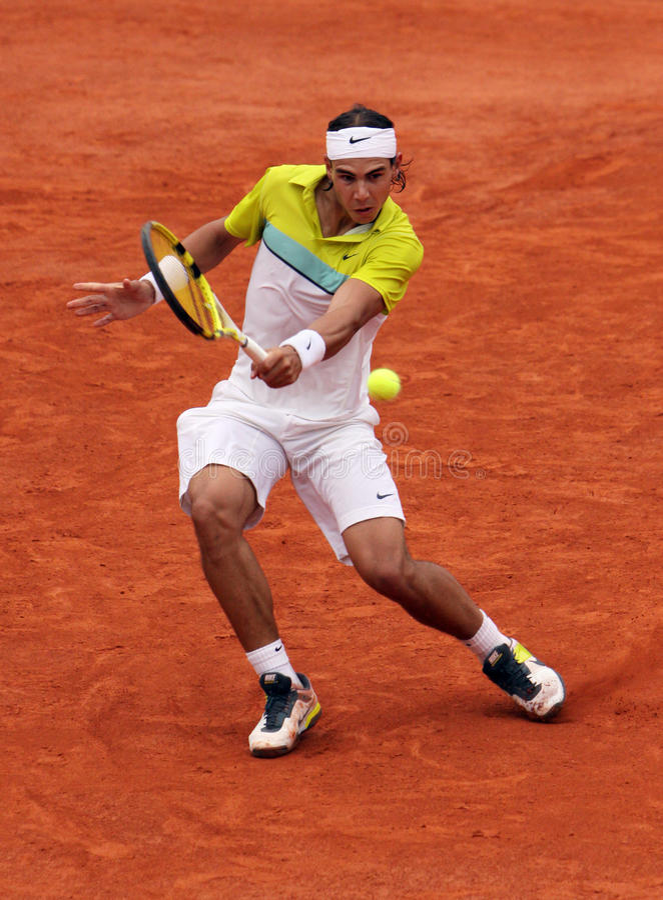 Rafael Nadal em Roland Garros 2009 imagem de stock royalty free