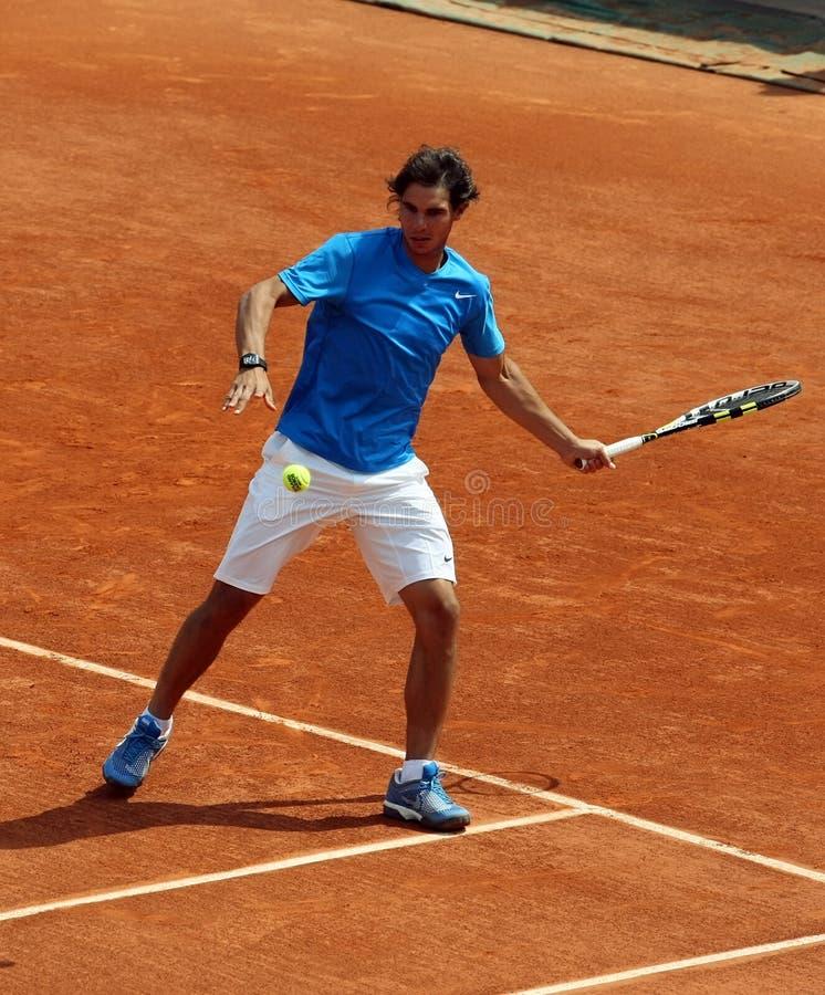 Rafael Nadal (EN PARTICULIER) chez Roland Garros 2011 images libres de droits