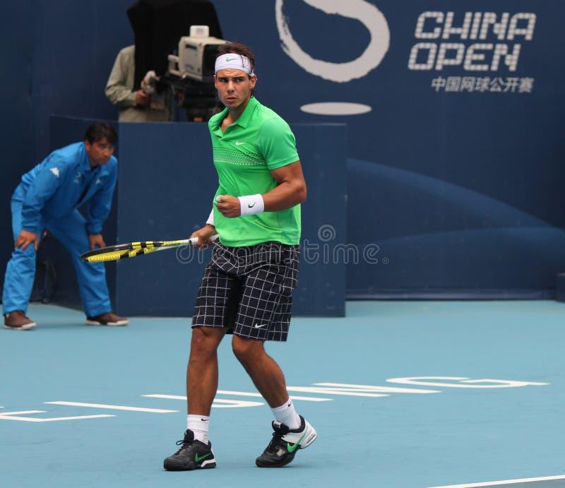 Rafael Nadal (ESPECIALMENTE), jugador de tenis profesional imágenes de archivo libres de regalías