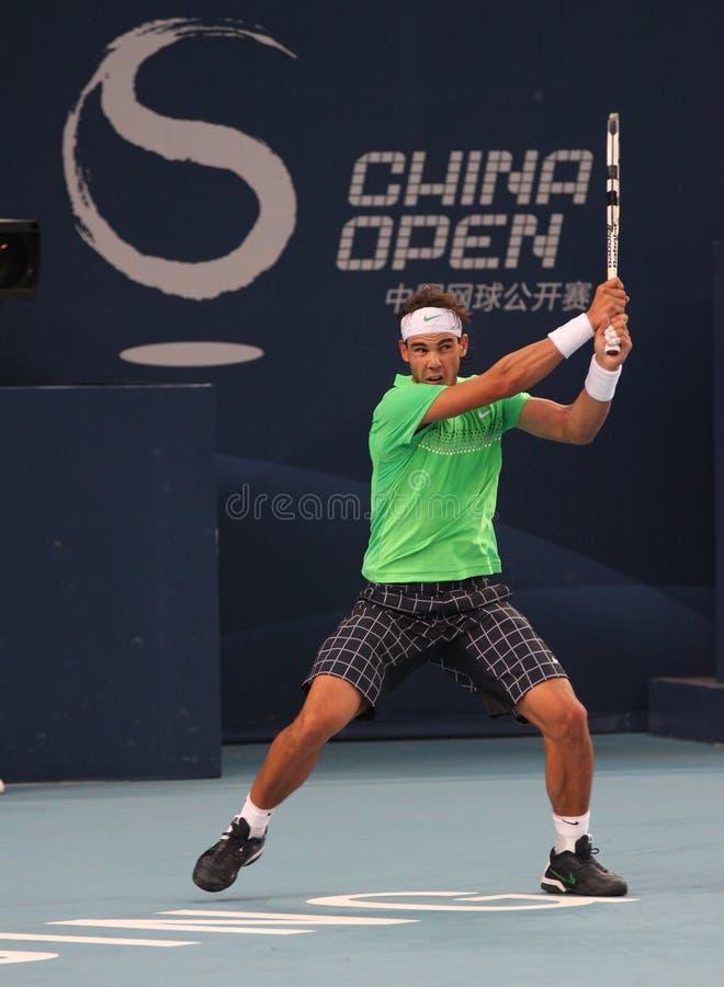 Rafael Nadal (ESPECIALMENTE), jugador de tenis profesional foto de archivo libre de regalías