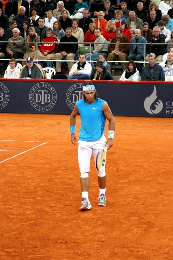 Rafael Nadal, Hambourg 2008 image libre de droits