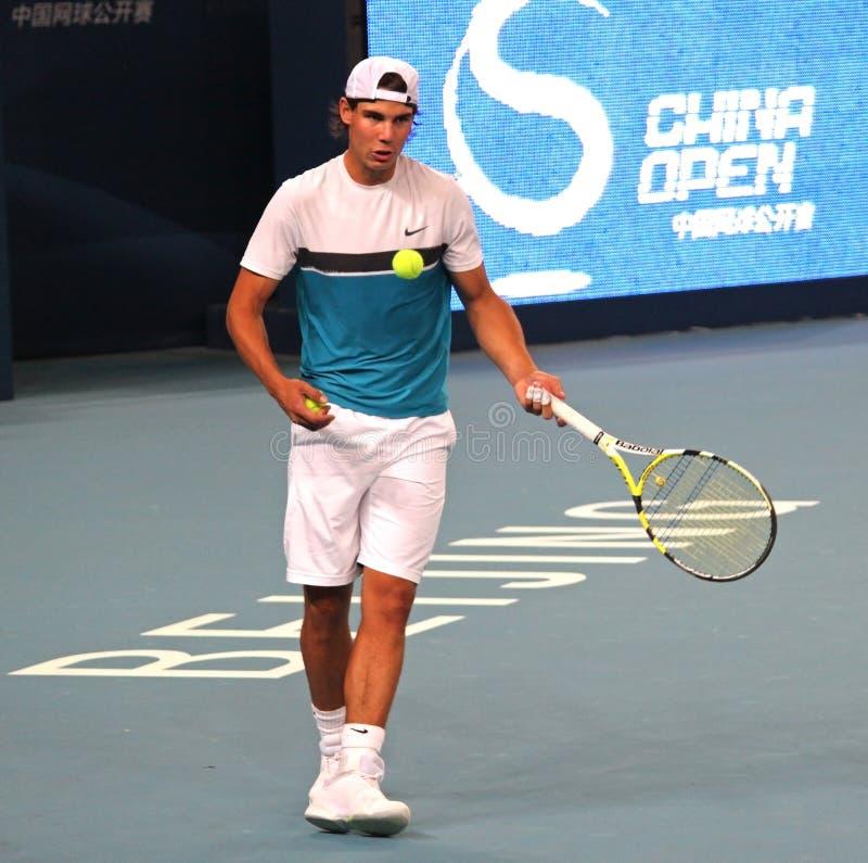 Rafael Nadal (IN HET BIJZONDER), professionele tennisspeler stock foto's
