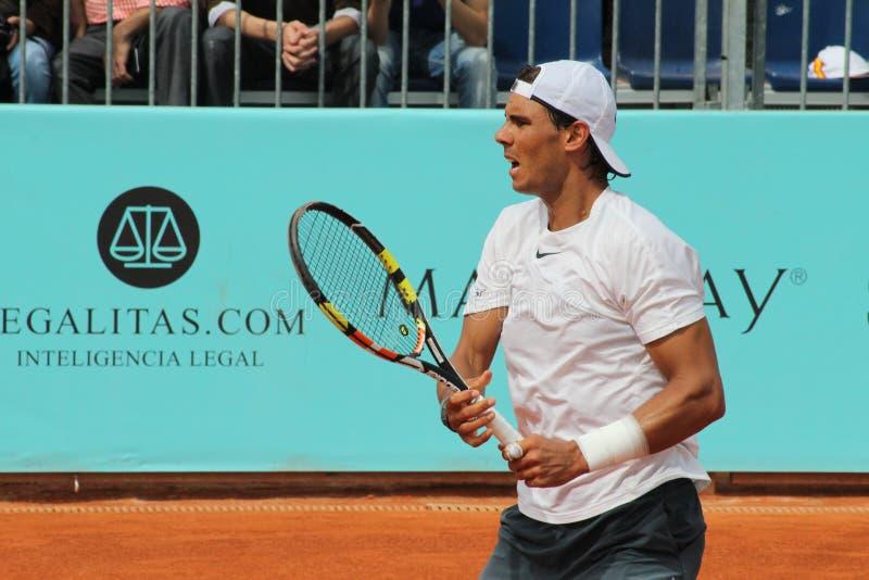 Rafael Nadal Madrid ouvrent 2015 image libre de droits