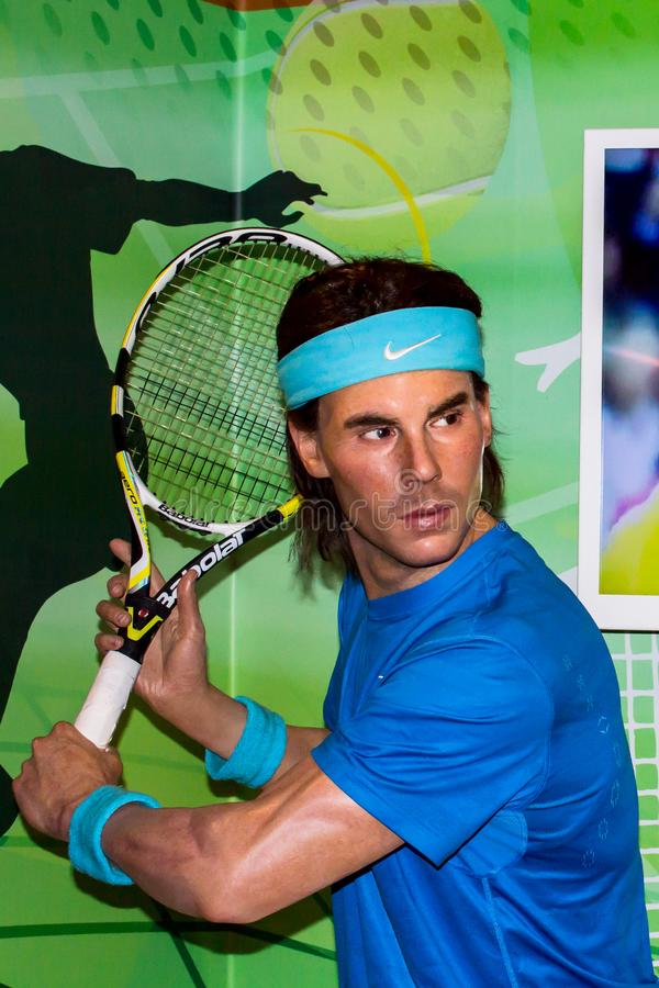 Rafael Nadal wax statue, Madame Tussaud`s Amsterdam stock photography