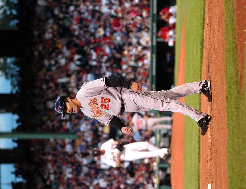 Rafael Palmeiro Baltimore Orioles. Baltimore Orioles first baseman Rafael Palmeiro #25 stock images
