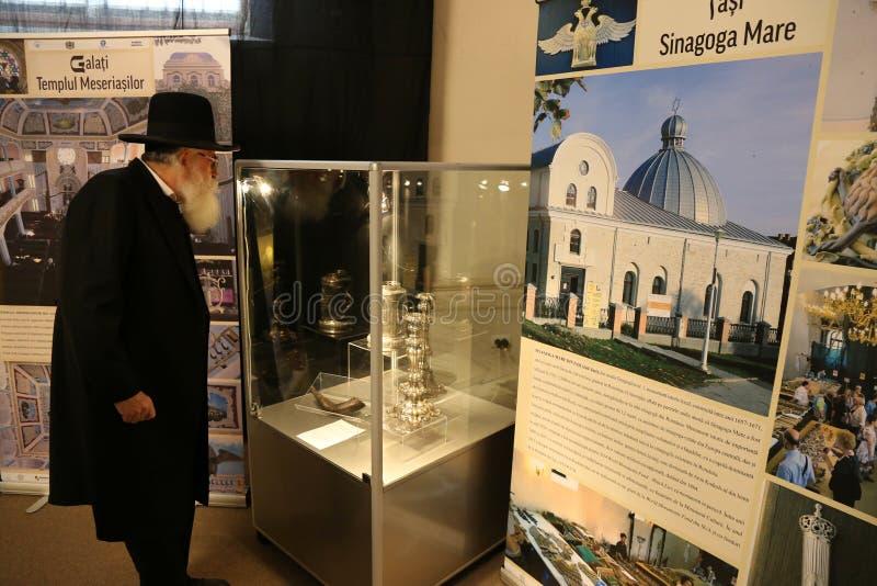 Rafael Shaffer - högsta rabbin av judar i Rumänien royaltyfri bild