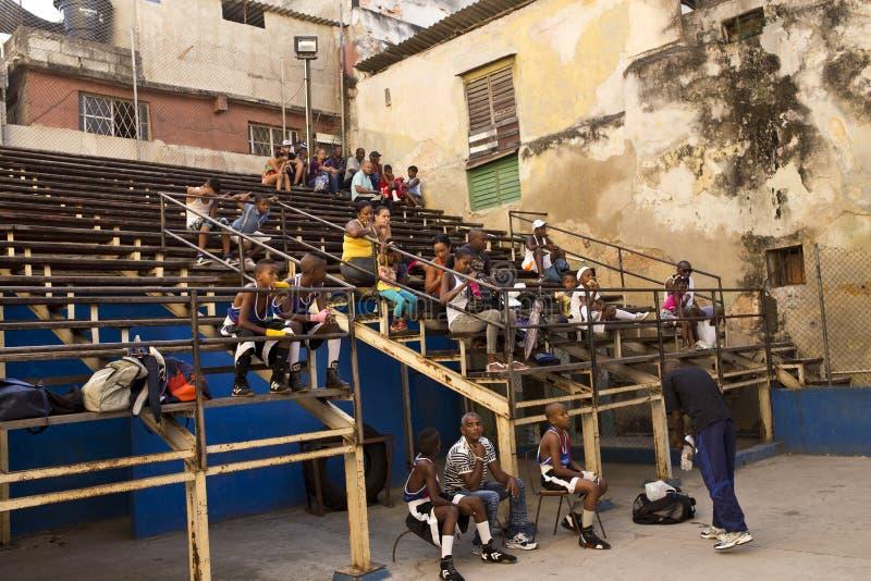 Rafael Trejo Boxing Gym, Havana, Cuba imagem de stock