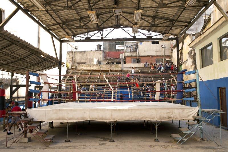 Rafael Trejo Boxing Gym, Havana, Cuba fotografia de stock