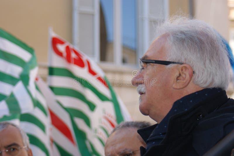 Raffaele Bonanni, italian union leader royalty free stock photo