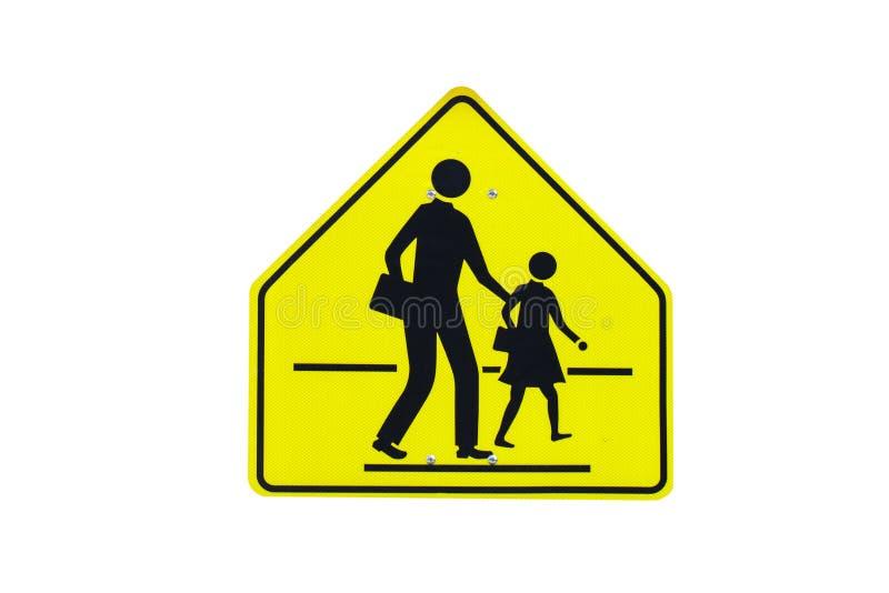 Raffic-Schulwarnzeichen lokalisiert stockfoto
