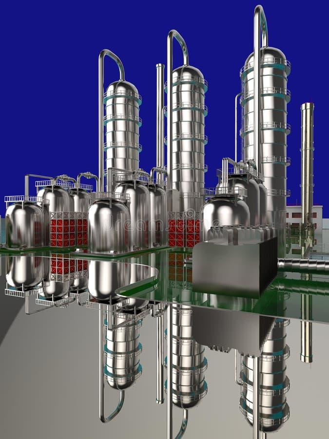 Raffinaderi stock illustrationer