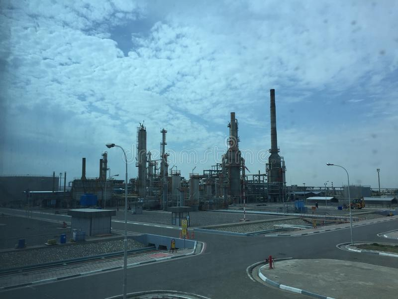 raffinaderij stock foto