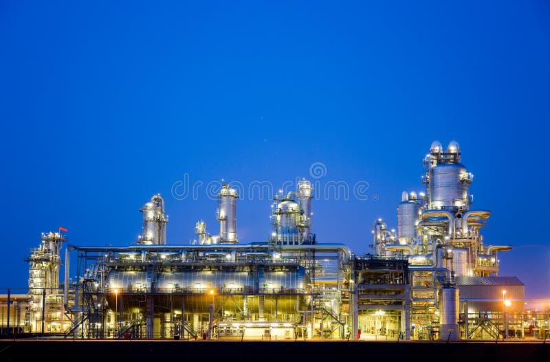 Raffinaderij bij nacht 5 royalty-vrije stock foto