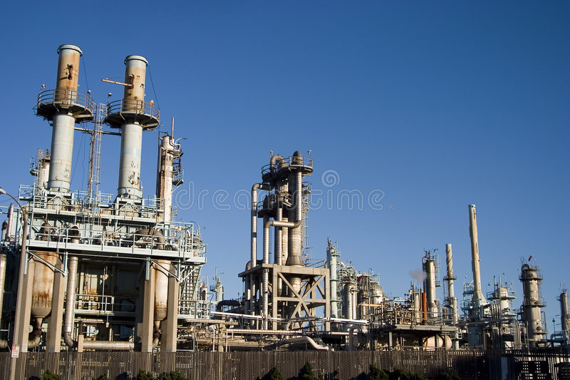 Raffinaderij van de olie 2 royalty-vrije stock foto's