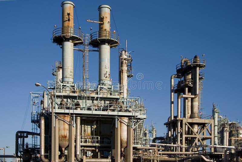 Raffinaderij van de olie 3 royalty-vrije stock afbeeldingen
