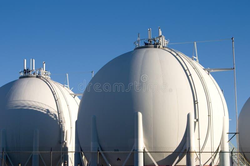 Raffinaderij van de olie 4 stock afbeelding