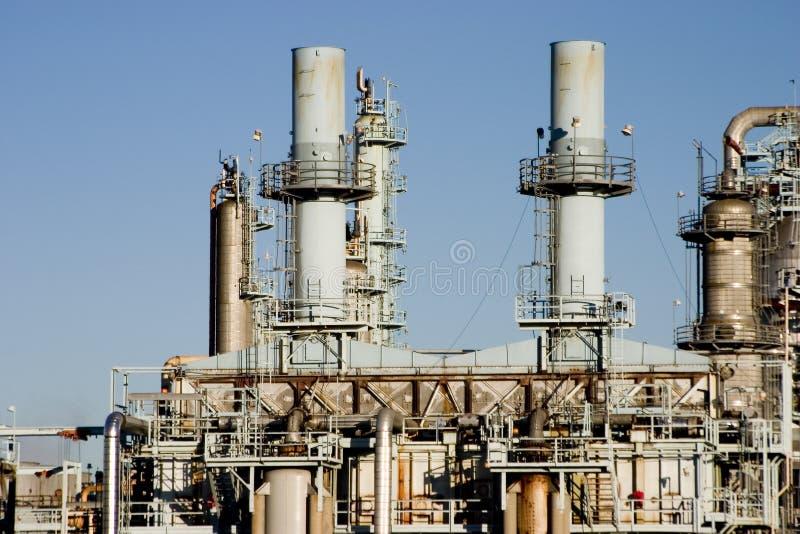 Raffinaderij van de olie 6 stock foto