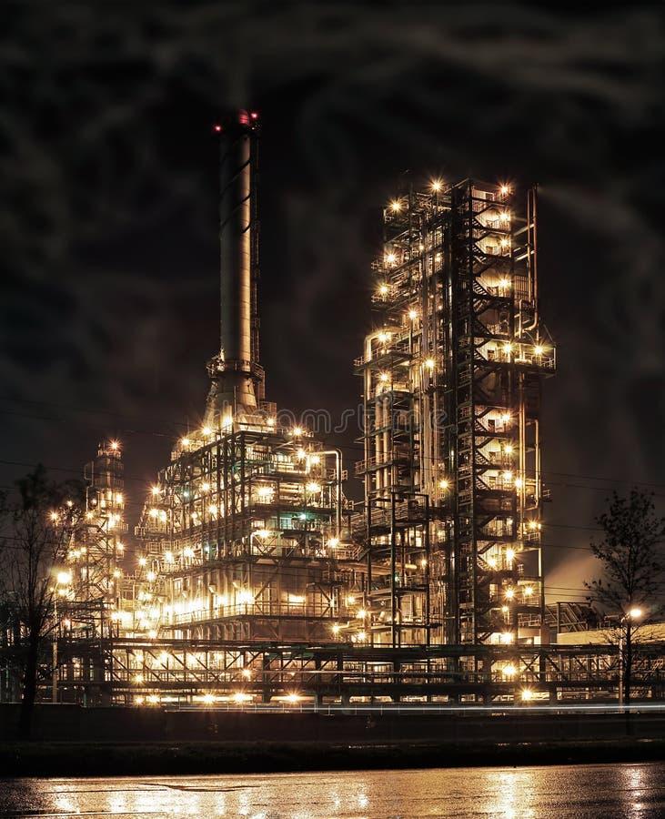 Raffineria. fotografie stock libere da diritti