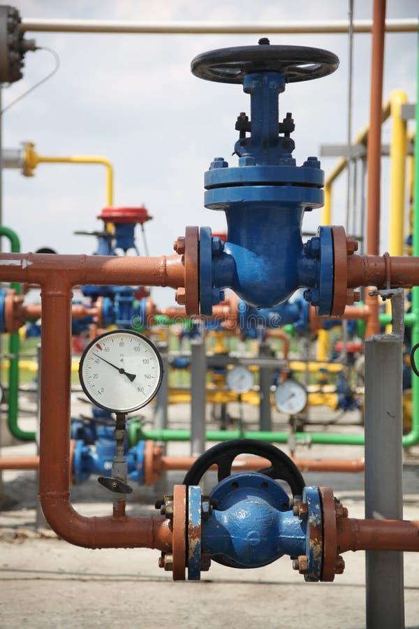 Raffineria del gas fotografie stock