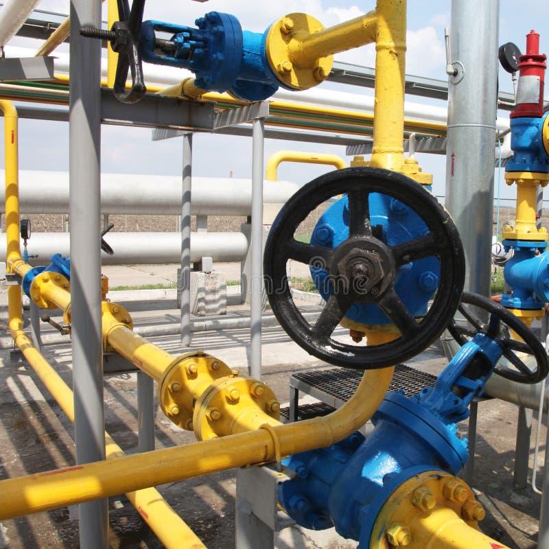 Raffineria del gas fotografia stock libera da diritti