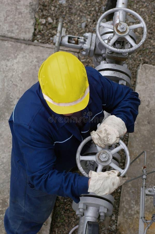 Raffineria 4 del gas fotografia stock