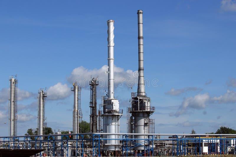 Raffineria dell'olio vegetale di centrale petrolchimica fotografie stock libere da diritti