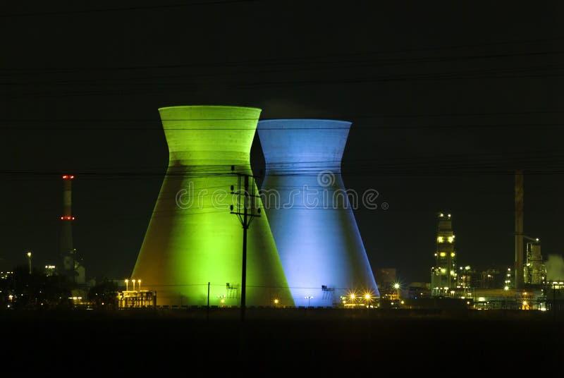 Raffineria di petrolio di Haifa Israele immagine stock