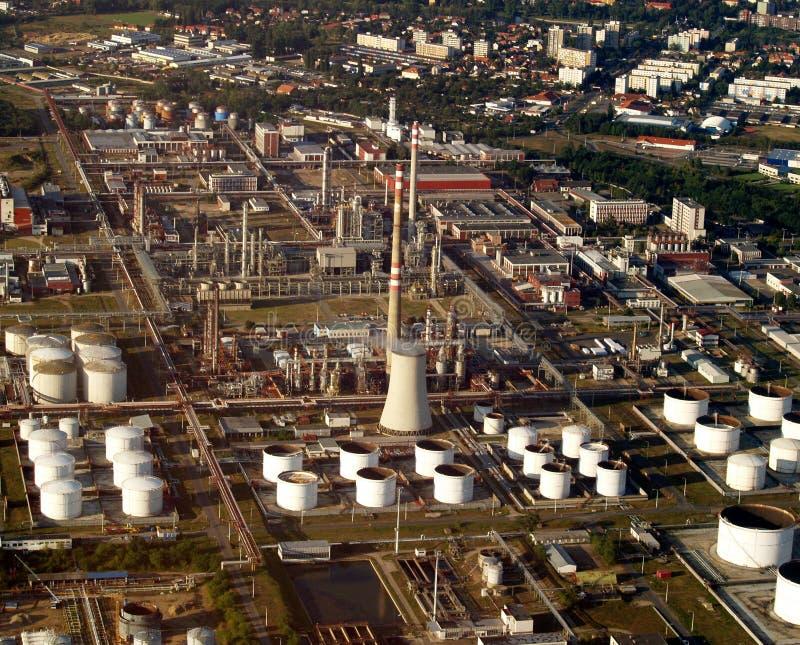 Raffinerie d'essence et de gaz image libre de droits