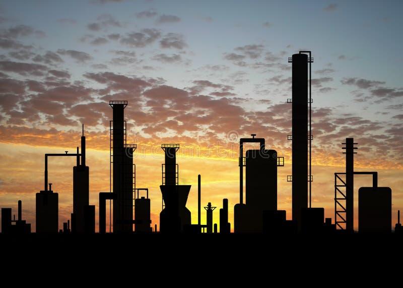 Raffinerie de pétrole illustration de vecteur