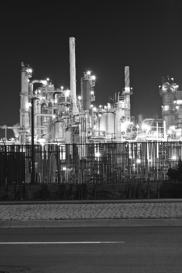 raffinerie de pétrole d'industrie lourd images stock
