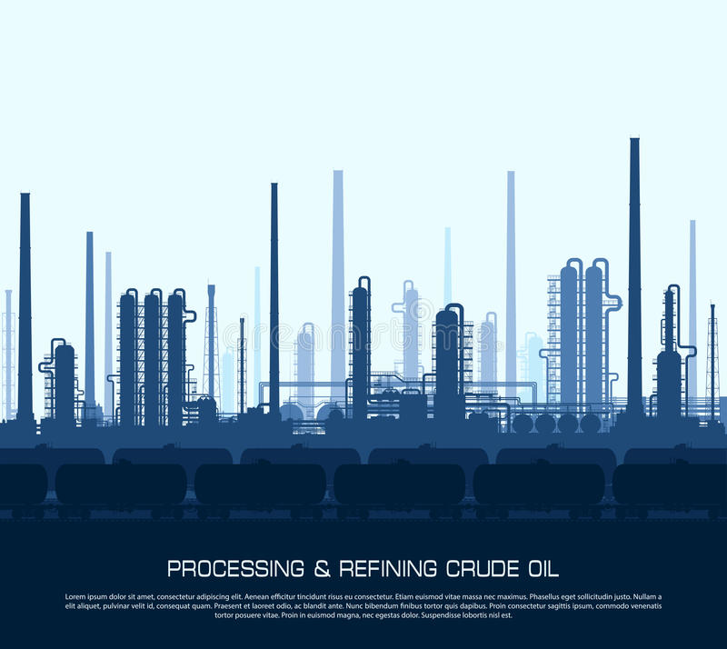 Raffinerie de pétrole et de gaz illustration stock