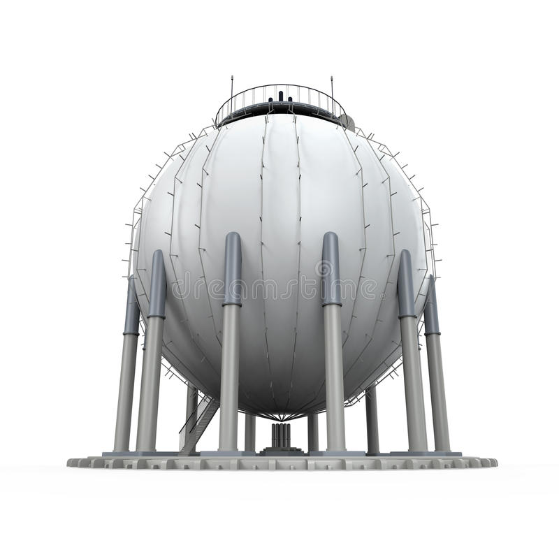 Raffinerie de stockage de gaz illustration stock