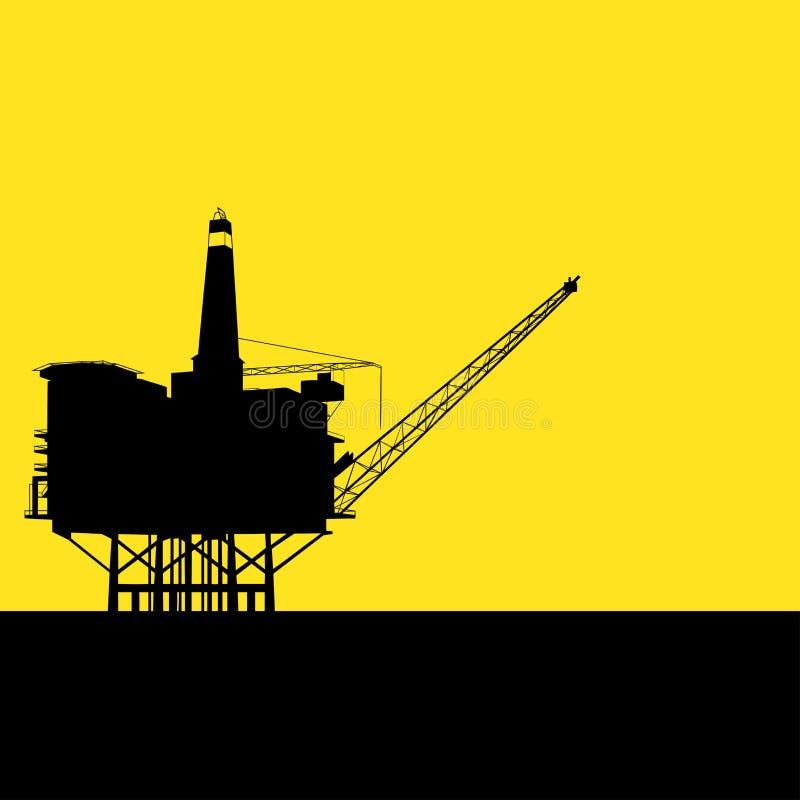Raffinerie en mer illustration libre de droits